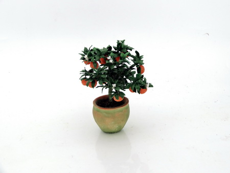 12th scale small patio orange bush